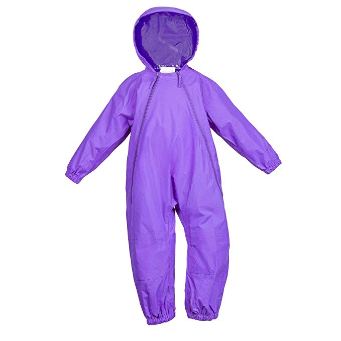 NEW (Boutique Item) Splashy PURPLE one piece rain suit, (12-18 Months to size 8)