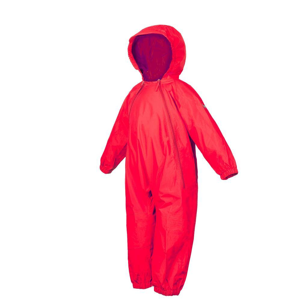 NEW (Boutique Item) - Splashy one piece rain suit, RED, (12-18 months to size 8)