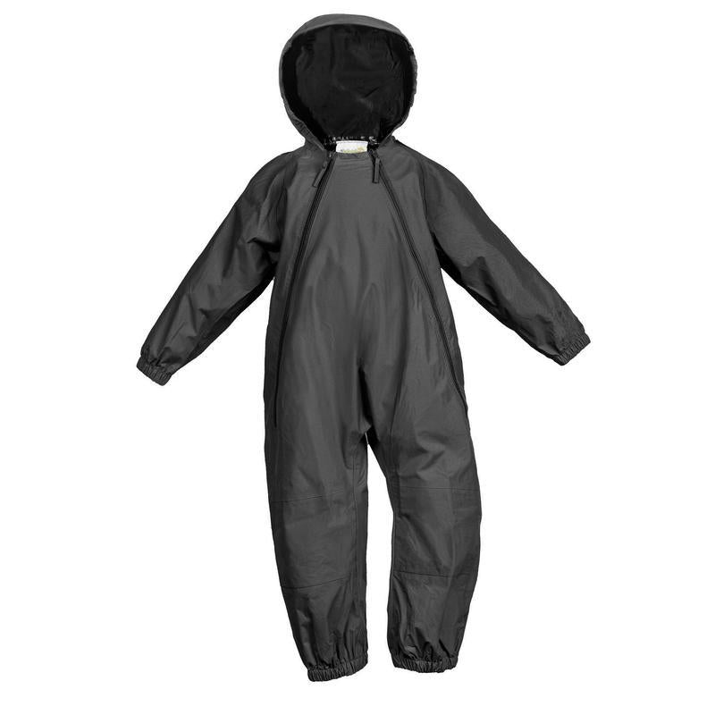NEW (Boutique Item) - Splashy one piece rain suit, GREY, (12-18 months to size 8)