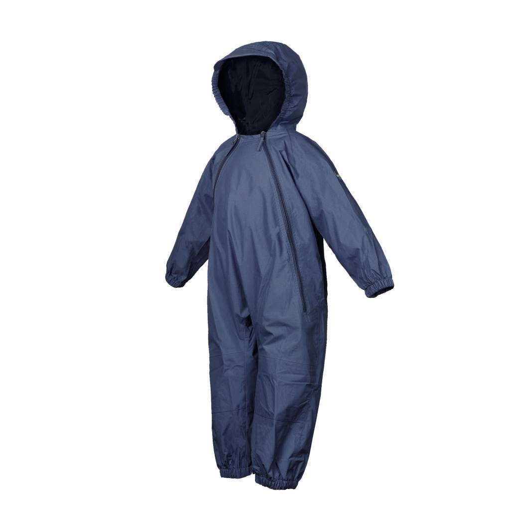 NEW (Boutique Item) - Splashy NAVY one piece rain suit, (12-18 Months to size 8)