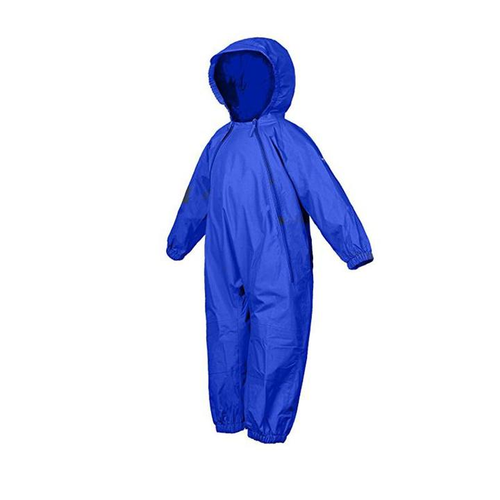 NEW (Boutique Item) - Splashy one piece rain suit, ROYAL BLUE, (Sizes 12-18 Months to size 8)