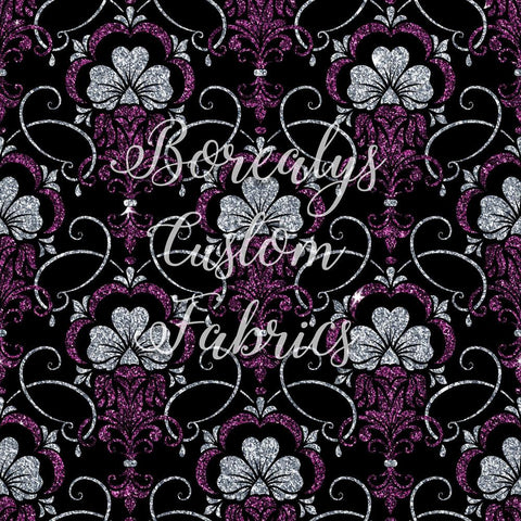 CL -Purple floral damask |CL - Damasque floral mauve
