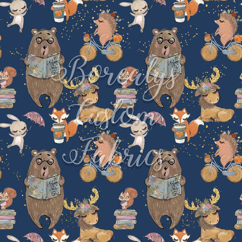 CL -Animals on navy background | CL -Animaux sur fond marin