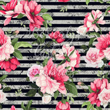 CL -Oleander and stripe | CL - Laurier rose rayé