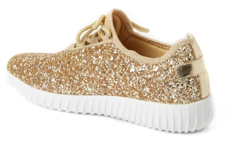 Glitter Gold Sneakers