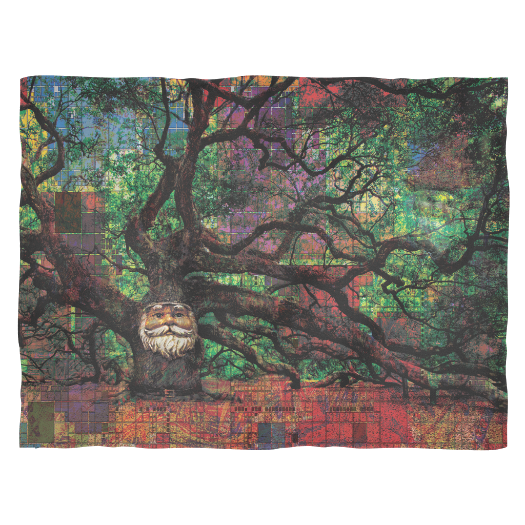Mr. Tree Fleece Blanket - Jud Hayden Art