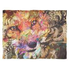 Sly Fox Fleece Blanket - Jud Hayden Art