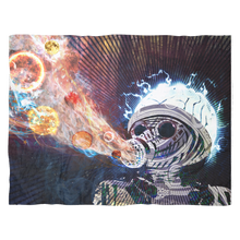 Astral Fumes Fleece Blanket Final - Jud Hayden Art
