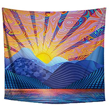 Psychedelic Sunrise Tapestry