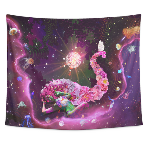 Galaxy Girl Tapestry - Jud Hayden Art