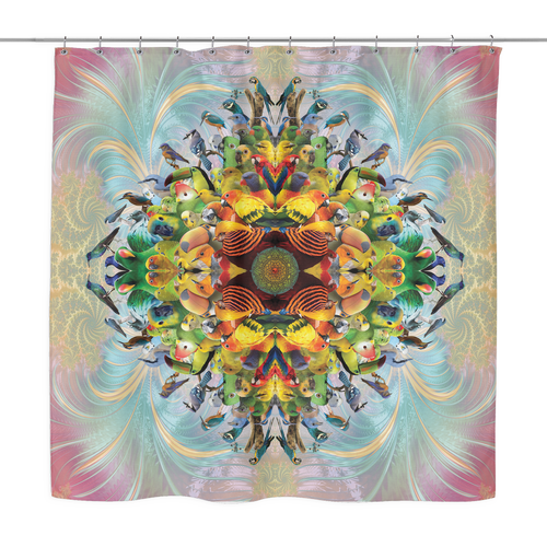 Bird Mandala Shower Curtain - Jud Hayden Art