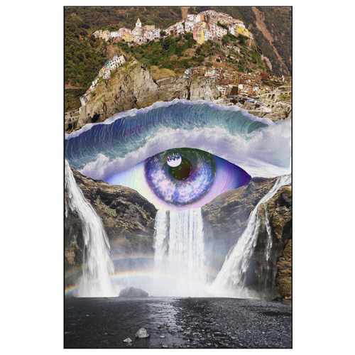 Iris Falls Canvas - Jud Hayden Art
