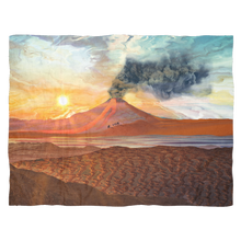 Lava Flow Fleece Blanket - Jud Hayden Art