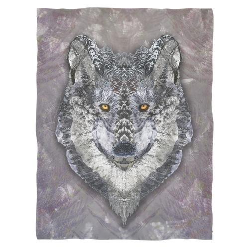 Lone Wolf Fleece Blanket - Jud Hayden Art