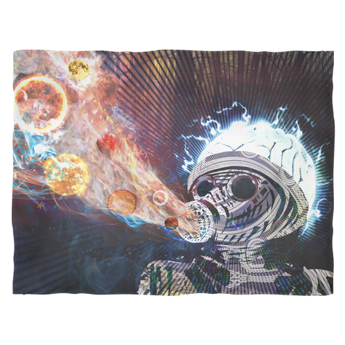 Astral Fumes Fleece Blanket - Jud Hayden Art