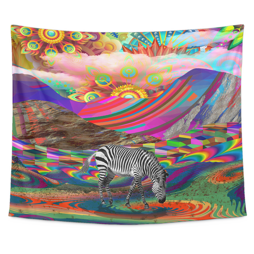 Rainbow Land Tapestry - Jud Hayden Art
