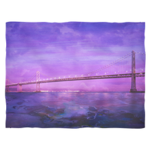 Moody Bridge Fleece Blanket - Jud Hayden Art