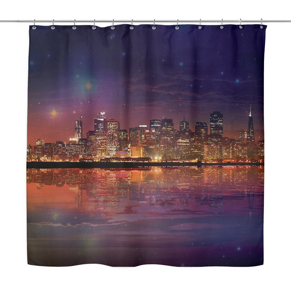 Dark As The Sky Shower Curtain - Jud Hayden Art