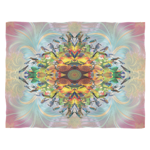 Bird Mandala Fleece Blanket - Jud Hayden Art