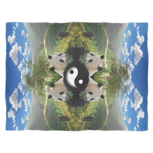 Pandaland Fleece Blanket - Jud Hayden Art