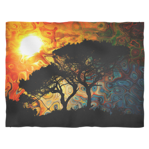 African Sun Fleece Blanket - Jud Hayden Art
