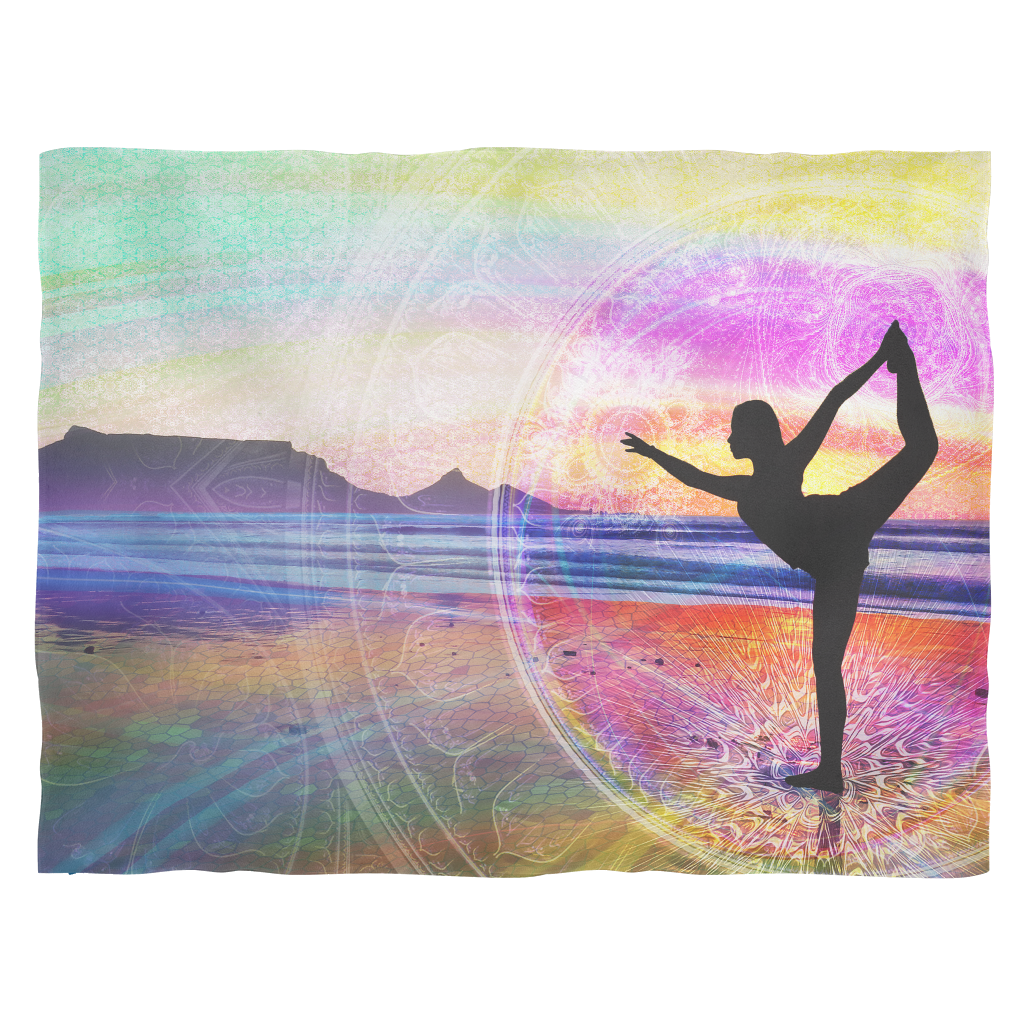 Natarajasana Fleece Blanket - Jud Hayden Art