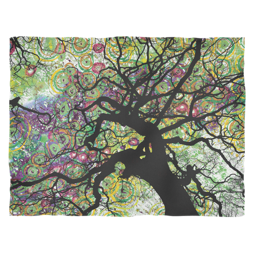 Radial Roots Fleece Blanket - Jud Hayden Art