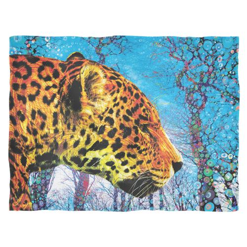 Prowling Paws Fleece Blanket - Jud Hayden Art