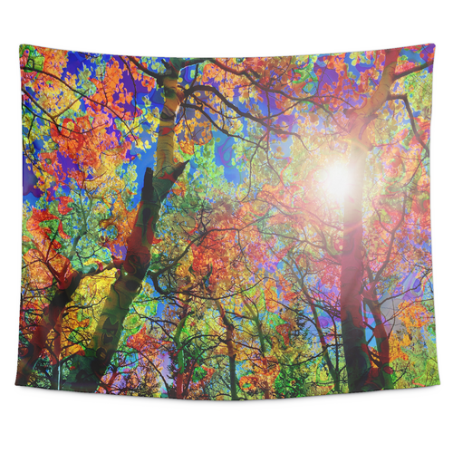 Colorful Canopy Tapestry