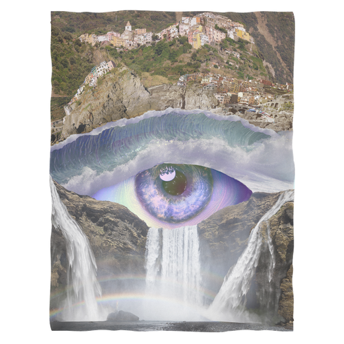 Iris Falls Fleece Blanket - Jud Hayden Art