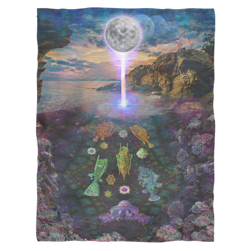 Sacred Tide Fleece Blanket - Jud Hayden Art