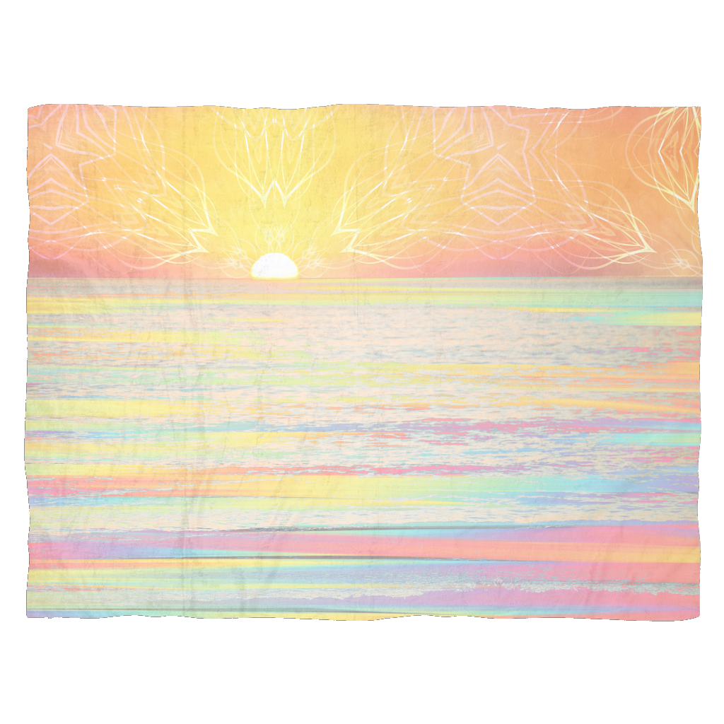 Pastel Sea Fleece Blanket - Jud Hayden Art