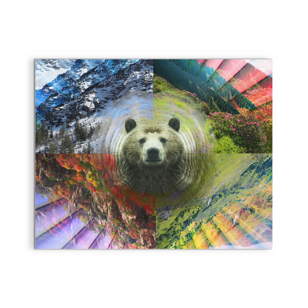 PLUR Bear Canvas - Jud Hayden Art