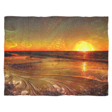 Fractal Sunset Blanket - Jud Hayden Art
