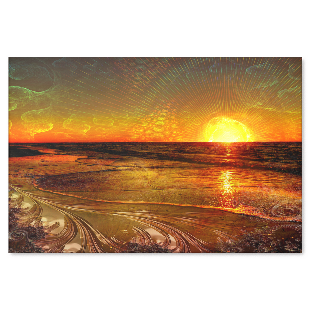 Fractal Sunset Canvas - Jud Hayden Art