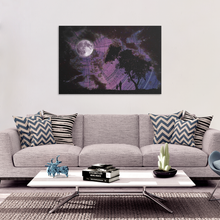 Lunar Gaze Canvas - Jud Hayden Art