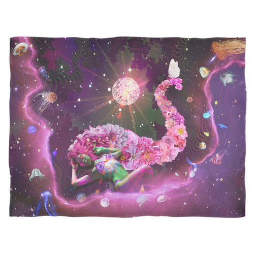 Galaxy Girl Fleece Blanket - Jud Hayden Art