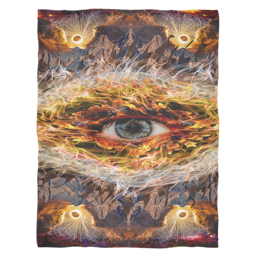 Eyecano Fleece Blanket - Jud Hayden Art
