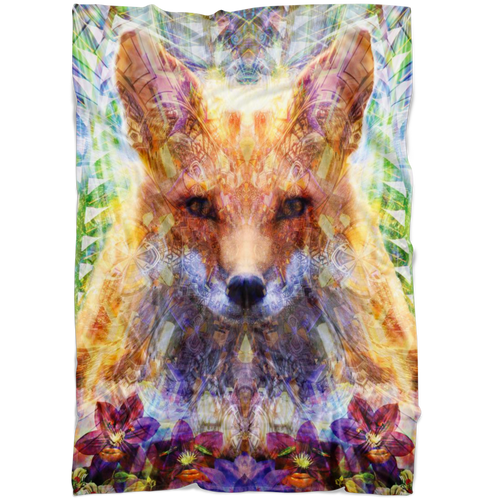 Fox Fleece Blabket - Jud Hayden Art