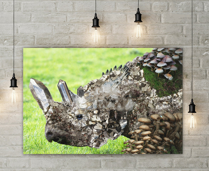Crystal Rhino Canvas