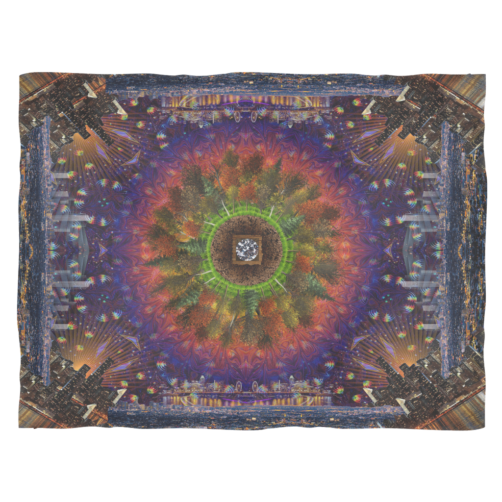 Concrete Skies Fleece Blanket - Jud Hayden Art