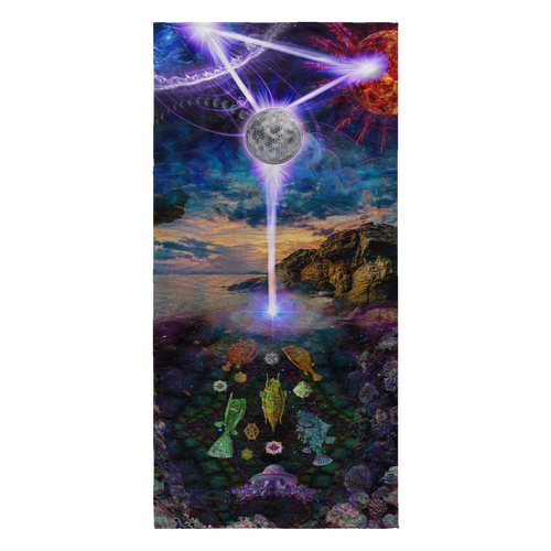 Sacred Tide Beach Towel - Jud Hayden Art