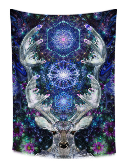 Crystal Deer Tapestry - Jud Hayden Art