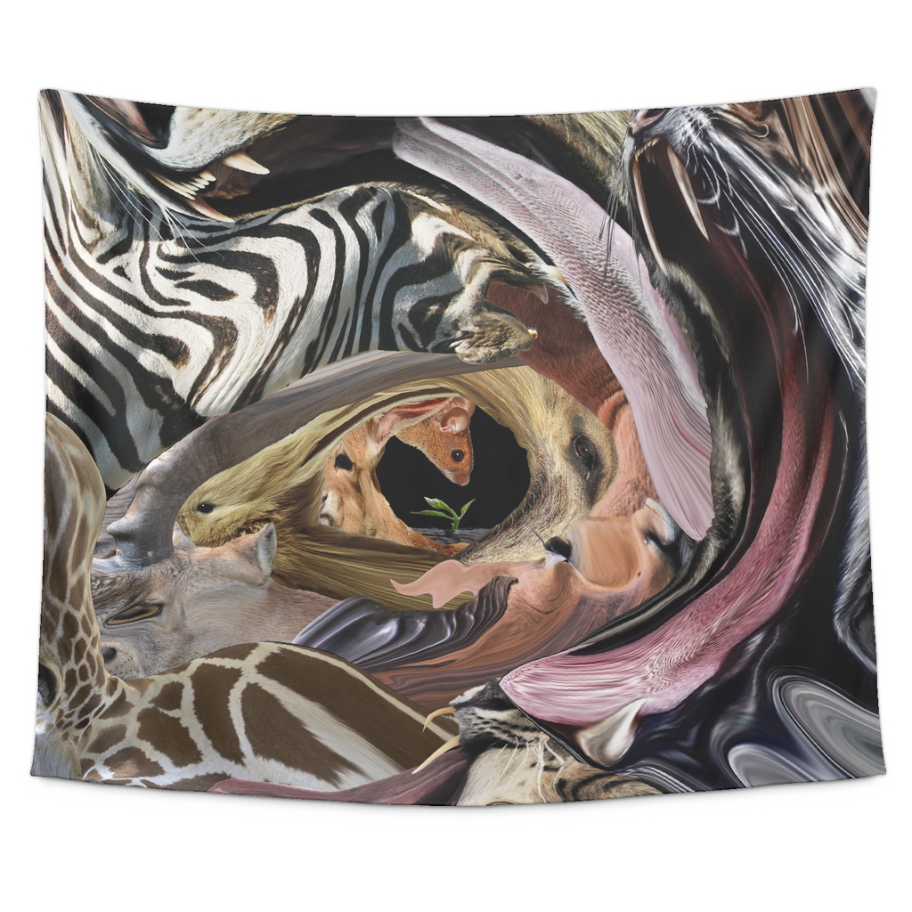 Animal Tunnel Tapestry - Jud Hayden Art