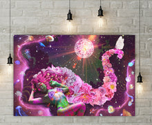 Galaxy Girl Canvas - Jud Hayden Art