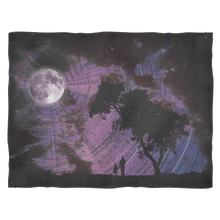 Lunar Gaze Fleece Blanket - Jud Hayden Art