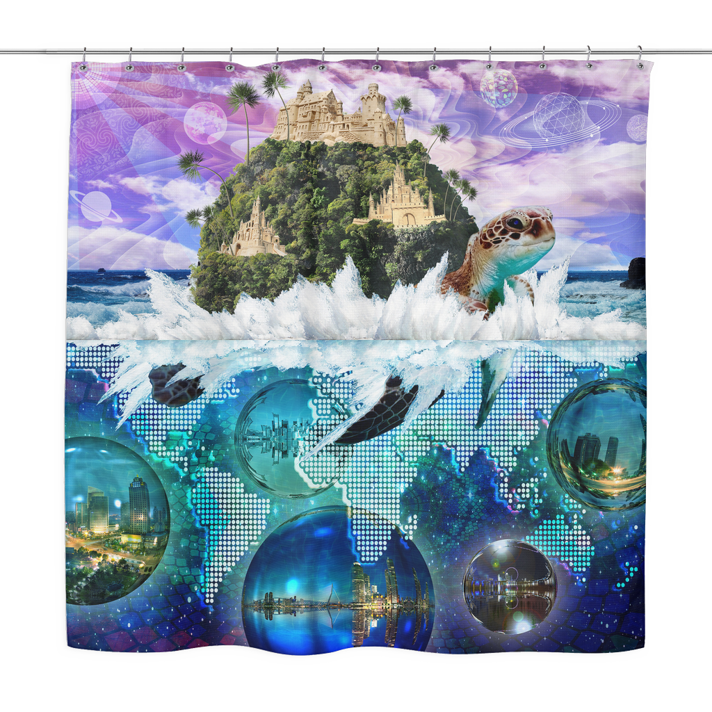 Turtle Island Shower Curtain - Jud Hayden Art
