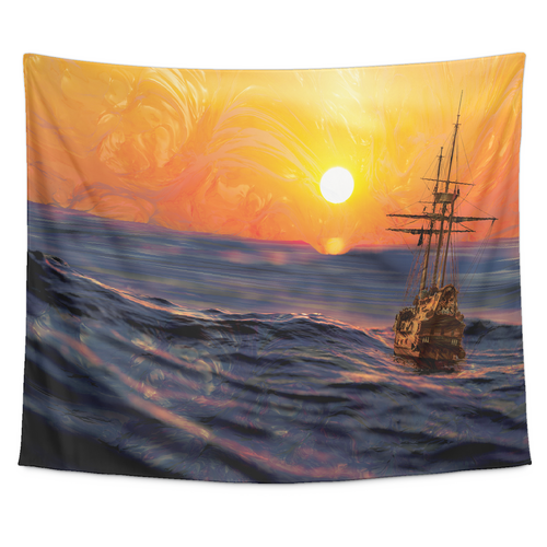Sailing Sun Tapestry