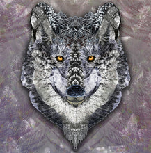 Lone Wolf Poster Print- Winter Wall Decor- Grey Wolf Print- Collage Poster Art- Cool Animal Poster- Grey Wall Art- Wolf Art- 11x17 24x36 - Jud Hayden Art