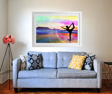 Natarajasana Poster Print- Yoga Print- Zen Print- Rainbow Art Print- Nature Print- Mountain Poster- Colorful Wall Decor- 11x17 24x36 Print - Jud Hayden Art